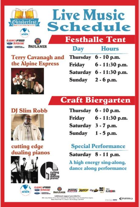 live music schedule oktoberfest